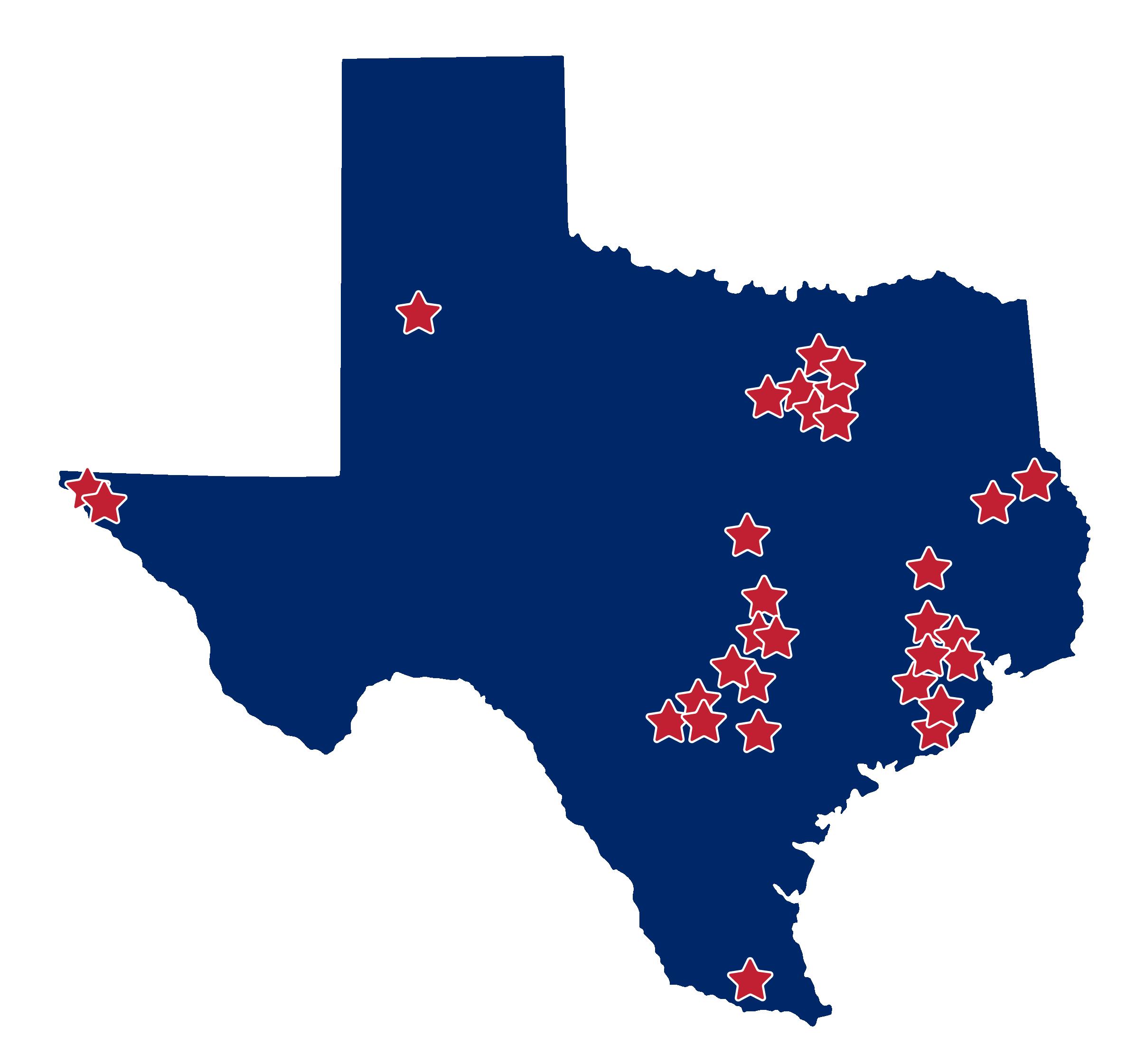 ST Math Impact in Texas Map
