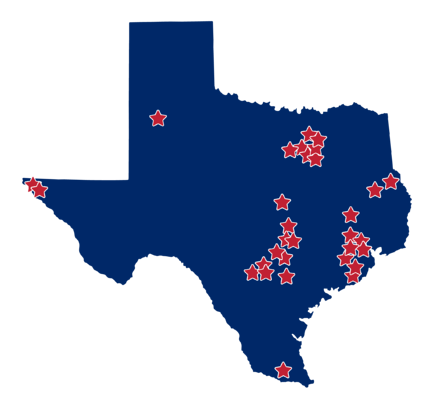 ST Math Impact in Texas Map