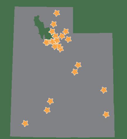 ST Math Impact in Utah Map