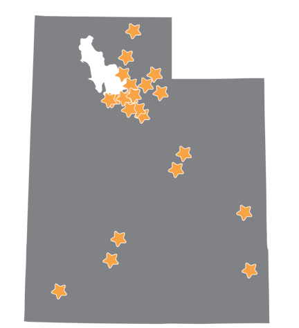 ST Math Impact in Utah Map