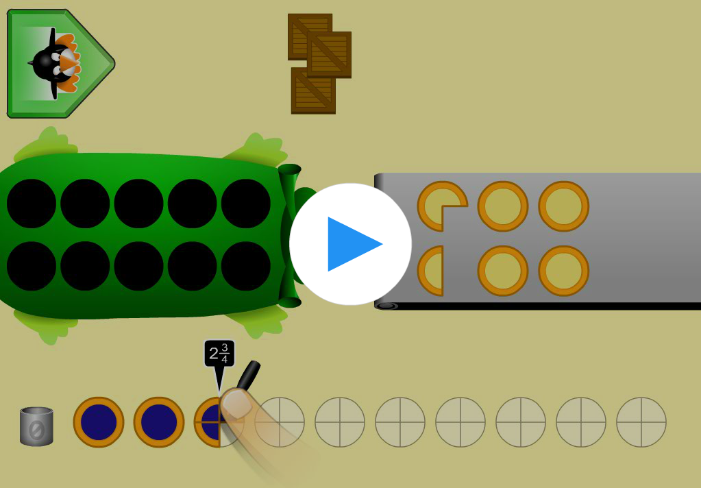 Play ST Math - fractions game