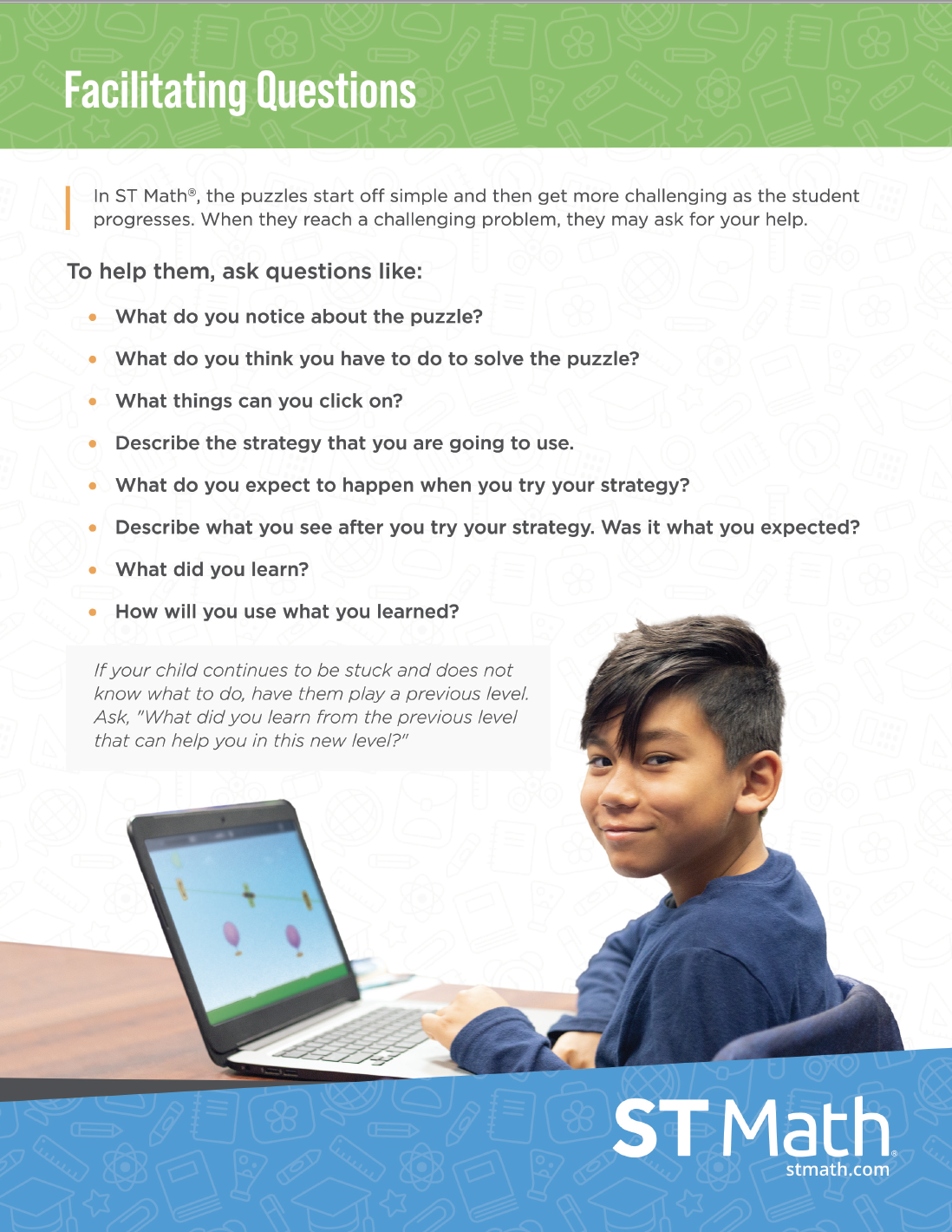Facilitating Questions Poster ST Math
