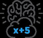 Algebraic Thinking icon for ST Math Middle School Math Program