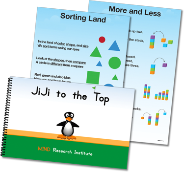 Storybook and chant posters graphics for ST Math Early Learning