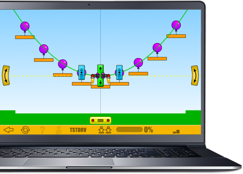 Laptop showing a sample of the ST Math Visual Math Program